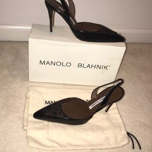 NWT MANOLO BLAHNIK KIRI  SLING BACKS